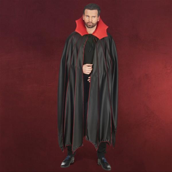 Vampir Umhang schwarz rot