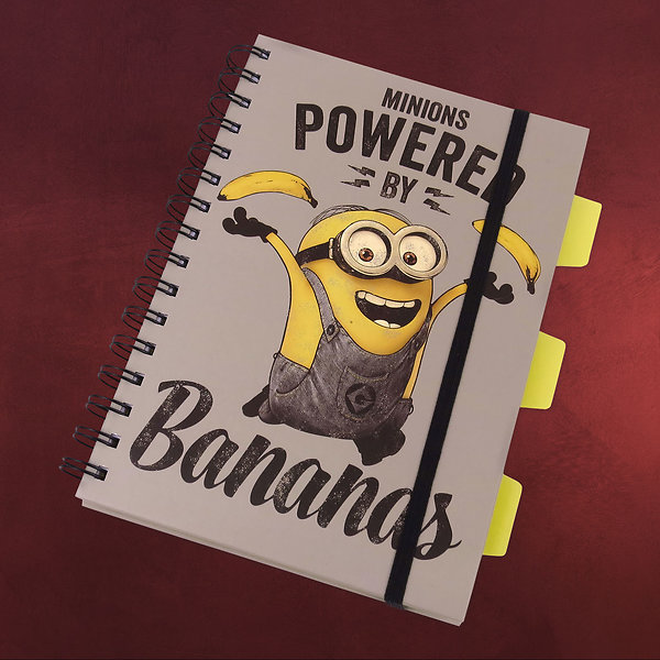 Minions - Powered by Bananas Notizbuch