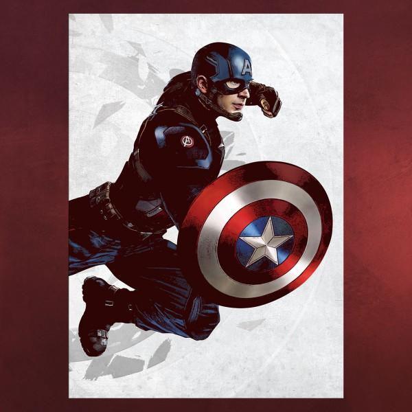 Captain America - Civil War Metall Poster