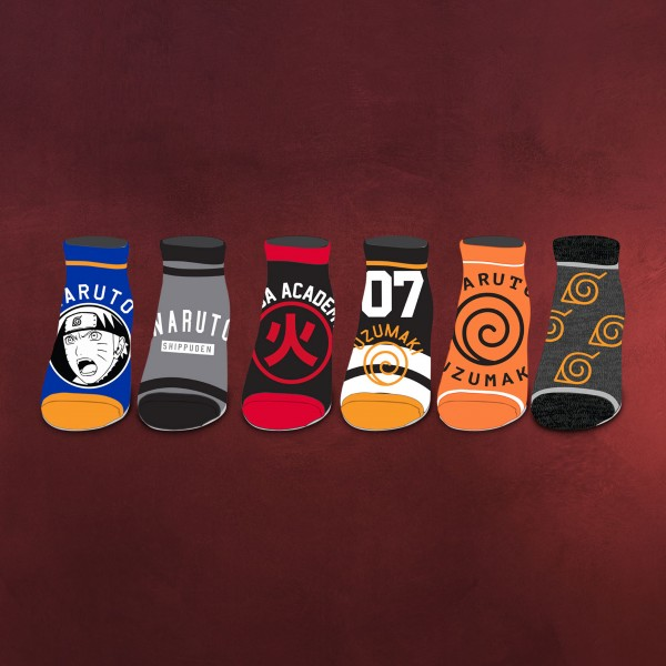 Naruto Shippuden - Symbols Socken 6er Set