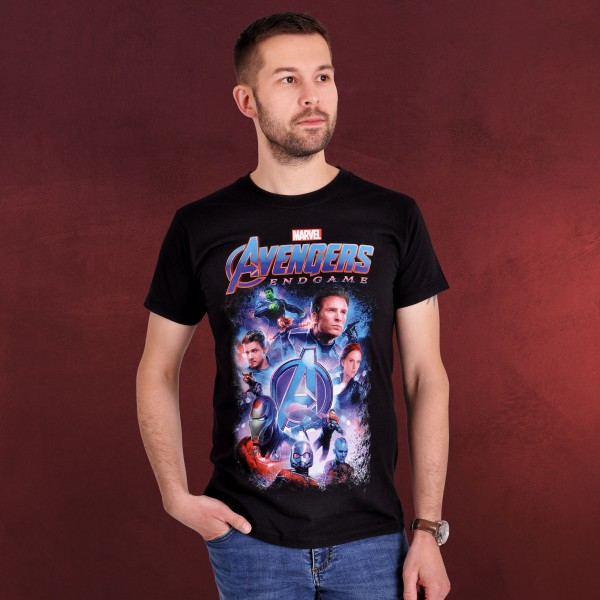 Avengers - Endgame Collage T-Shirt schwarz