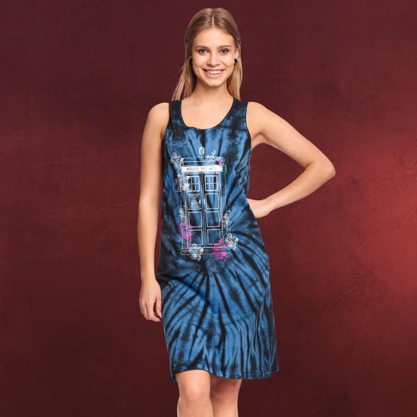Doctor Who - Floral Tardis Batik Minikleid