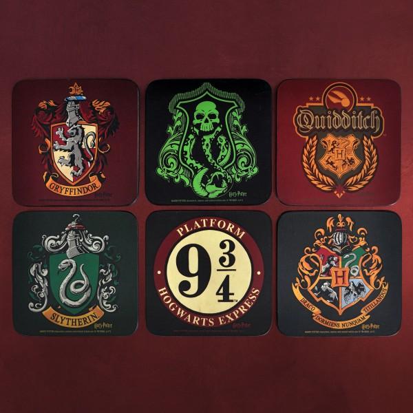Harry Potter - Untersetzer 6er Set