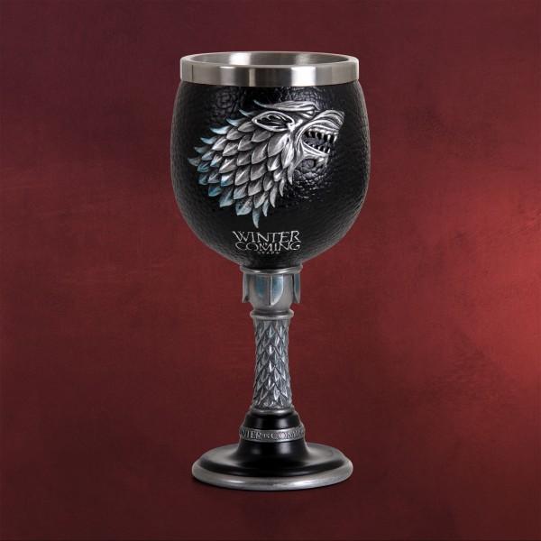 Game of Thrones - Schattenwolf Winter is Coming Kelch deluxe