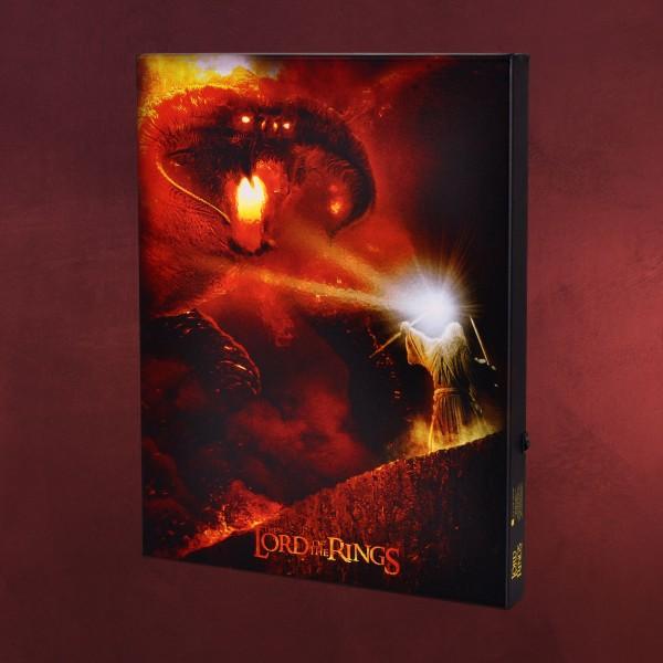 Herr der Ringe - Gandalf vs. Balrog Wandbild mit Licht