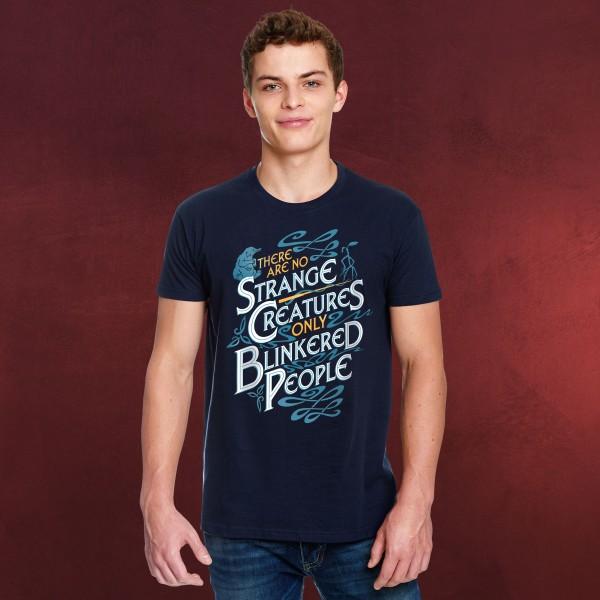 No Strange Creatures - Phantastische Tierwesen T-Shirt blau