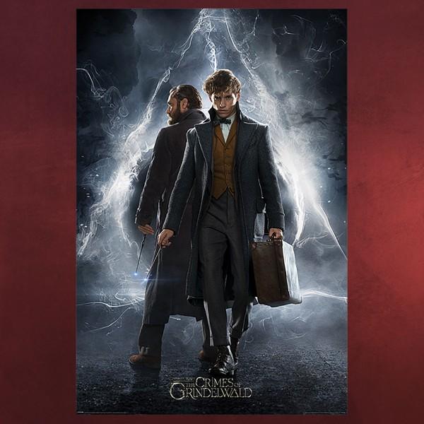 Dumbledore und Newt Scamander Maxi Poster - Phantastische Tierwesen