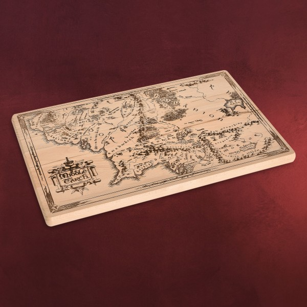 Herr der Ringe - Mittelerde Karte Schneidebrett Buche