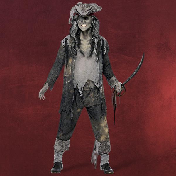 Zombie Piraten Kapitän Kostüm Herren