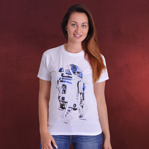 Star Wars - R2-D2 Chopped T-Shirt weiß
