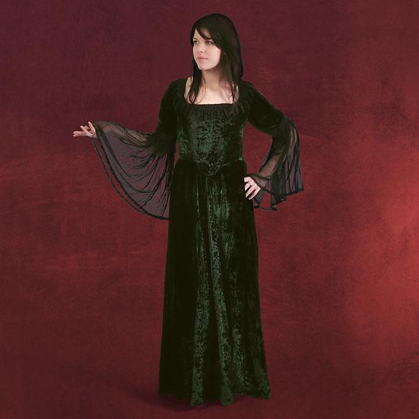 Melinda - Kleid dunkelgrün
