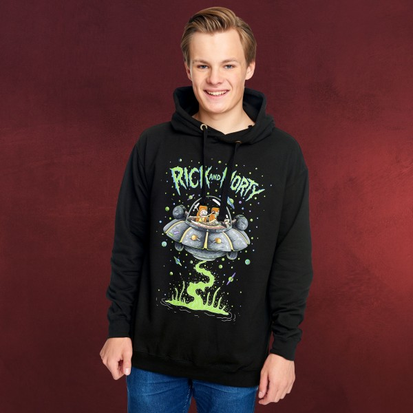 Rick and Morty - Space Cruiser Hoodie schwarz
