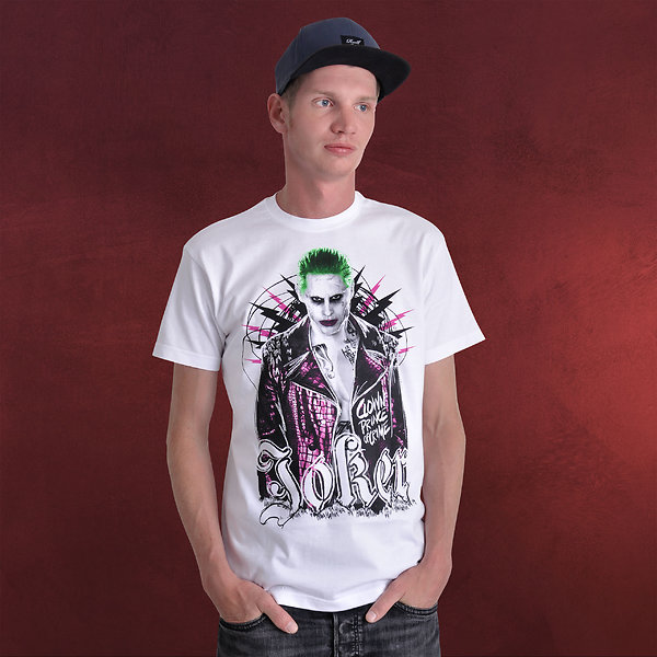 Suicide Squad - Joker Prince of Crime T-Shirt weiß