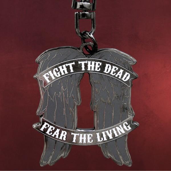 The Walking Dead Schlüsselanhänger Daryl Wings Anhänger Fight the Death Metal