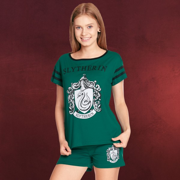 Harry Potter - Slytherin Pyjama kurz Damen