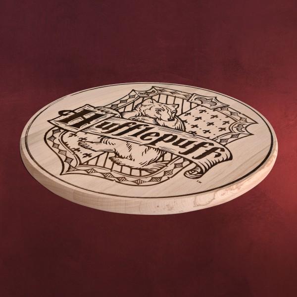 Harry Potter - Hufflepuff Wappen Schneidebrett Buche