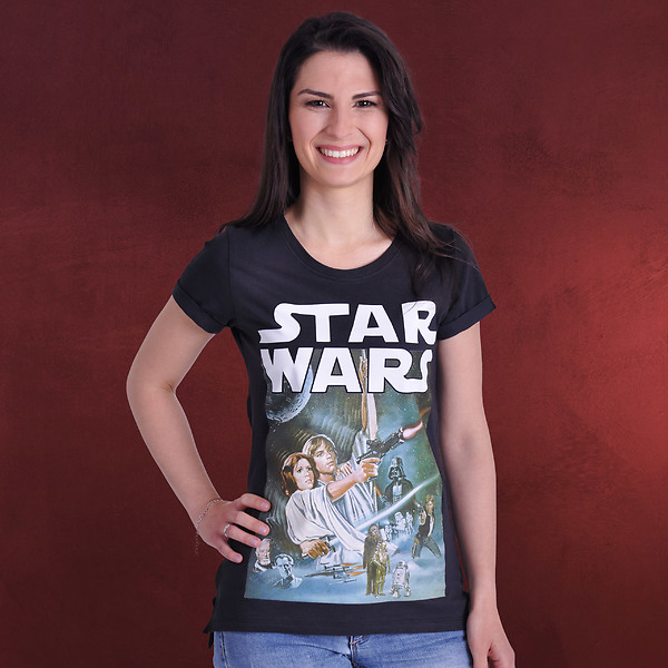Star Wars - New Hope Girlie Shirt schwarz