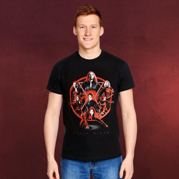 Black Widow - Collage T-Shirt schwarz