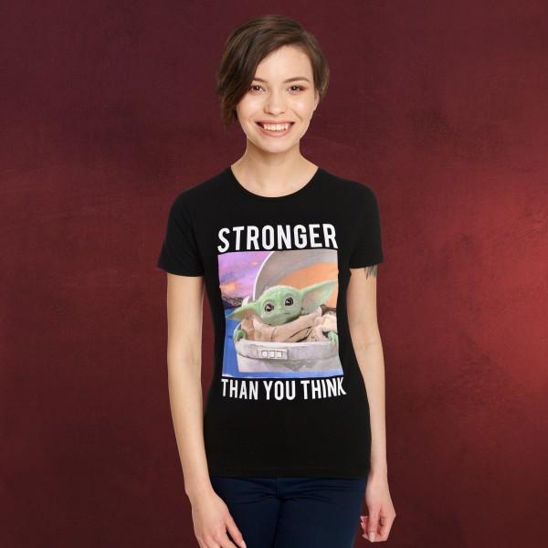Grogu Stronger Than You Think T-Shirt Damen - Star Wars The Mandalorian