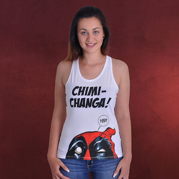 Deadpool - Chimichanga Tank Top weiß