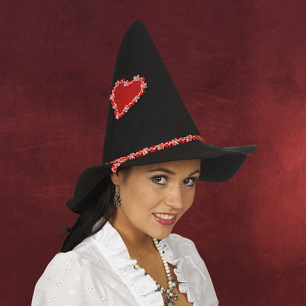 Trachtenhut schwarz-rot