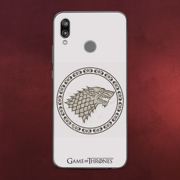 Game of Thrones - Stark Wappen Huawei P20 Lite Handyhülle Silikon weiß