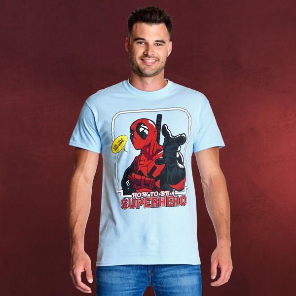 Deadpool - How to Be a Superhero T-Shirt blau