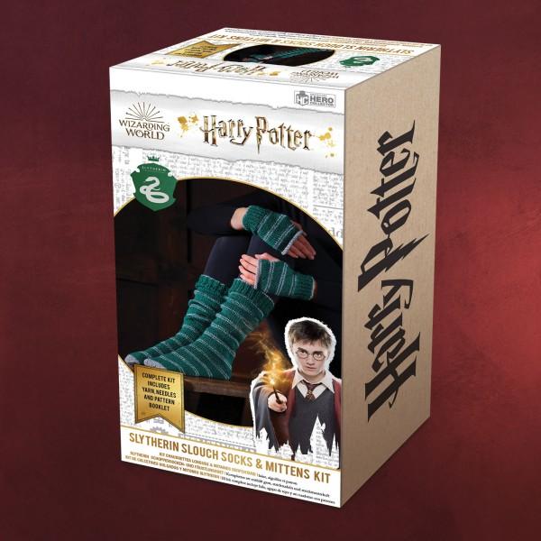 Harry Potter - Slytherin Handschuhe & Strümpfe Strick-Set