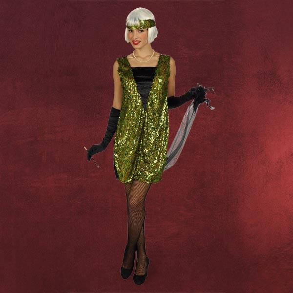 Charleston-Kleid mit Pailletten - Damenkostüm
