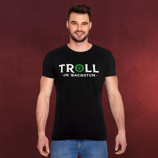 Troll im Wachstum T-Shirt schwarz