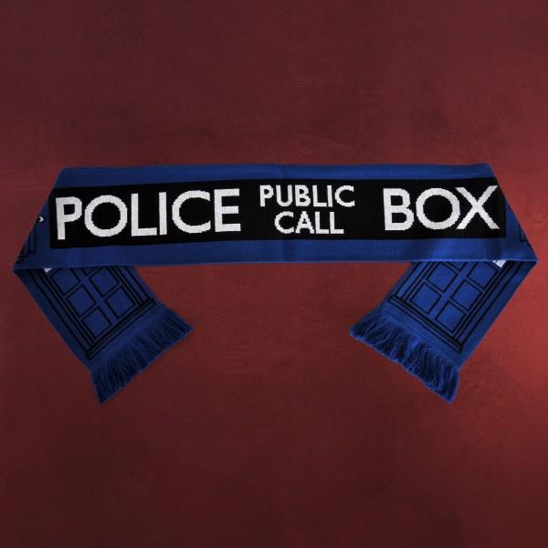 Doctor Who - Tardis Police Box Schal blau