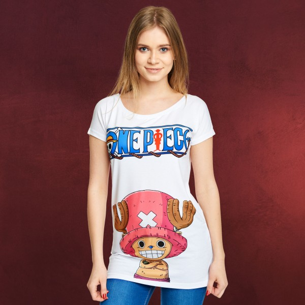 One Piece - Chopper T-Shirt Damen Loose Fit weiß