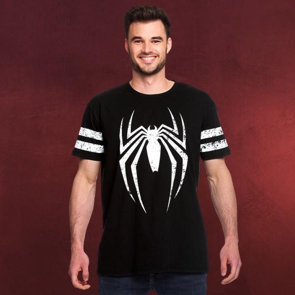 Spider-Man - Distressed Spidey Logo T-Shirt schwarz