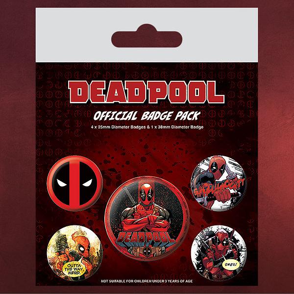 Deadpool 5er Button-Set