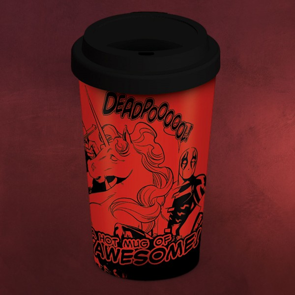Deadpool - Unicorn Ride To Go Becher