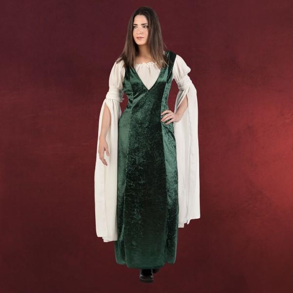 Mittelalter Samt Kleid Kostüm Damen grün