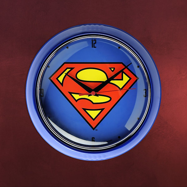 Superman - Logo Wanduhr