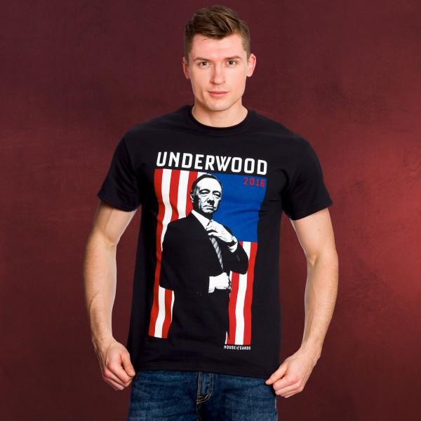 House of Cards - Underwood Flag T-Shirt schwarz