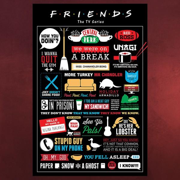 Friends - Quotes & Symbols Maxi Poster