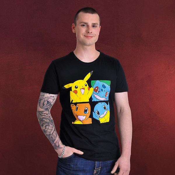 Pokemon - Characters T-Shirt schwarz