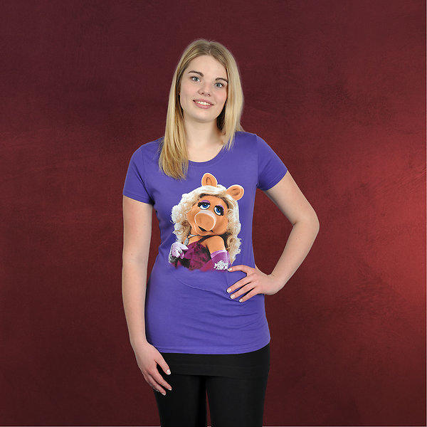 Muppets - Miss Piggy Portrait Girlie Shirt violett