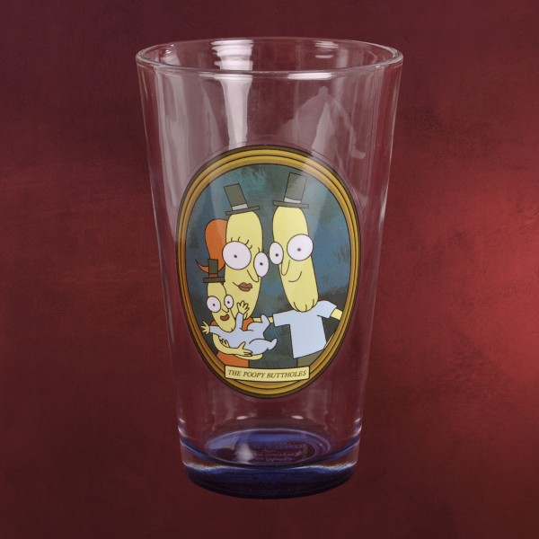 Rick and Morty - Poopybutthole Family Glas
