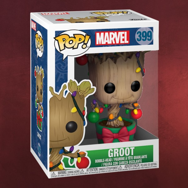 Guardians of the Galaxy - Groot Christmas Funko Pop Wackelkopf-Figur