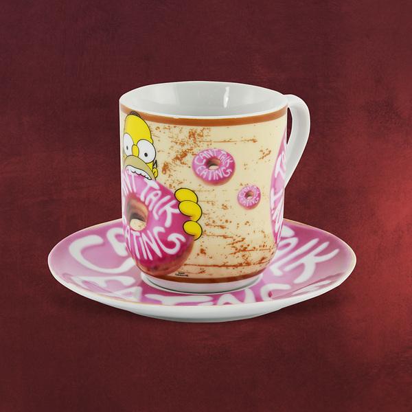 Simpsons - Donut Tasse mit Untertasse