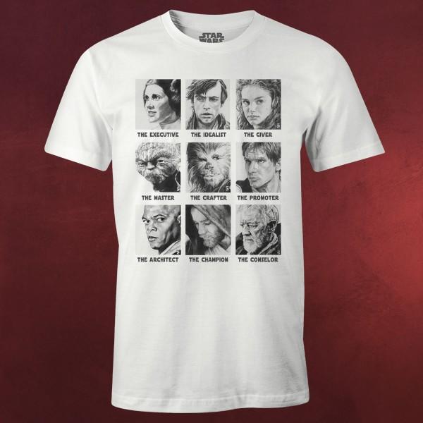 Star Wars - Classic Characters T-Shirt weiß