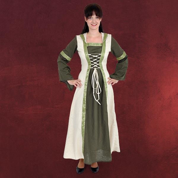 Genoveva Mittelalter Kleid grün-natur