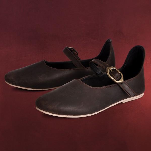 Mittelalter Schuhe Cecilie Damen braun