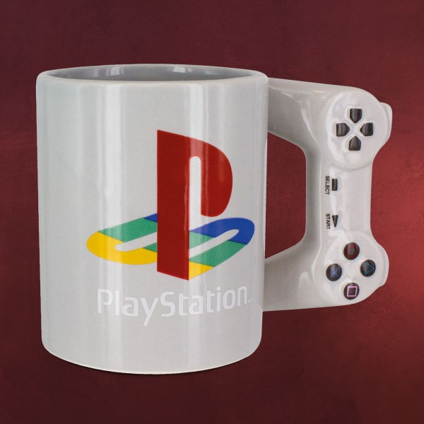 PlayStation - Controller 3D Tasse grau
