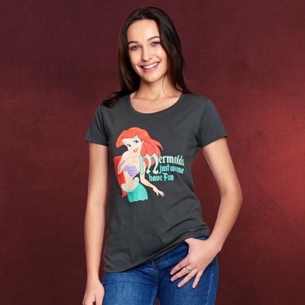 Arielle - Mermaids Wanna Have Fun T-Shirt Damen grau