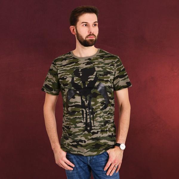 The Mandalorian Camouflage Logo T-Shirt - Star Wars